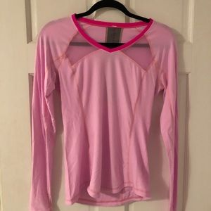 Pink running top lululemon